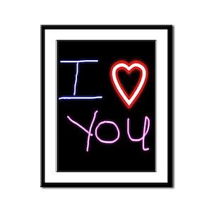 I Love You Framed Panel Print