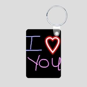 I Love You Aluminum Photo Keychain