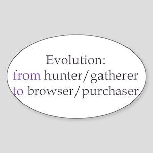 Evolution Browser/Purchaser Sticker (Oval)
