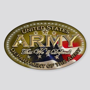 Army: Sticker (Oval)
