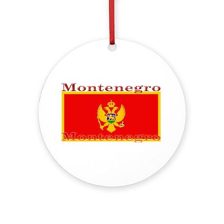 Montenegro Montenegrin Flag Ornament (Round)