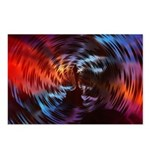 Psychedelic Faces Postcards (package Of 8)