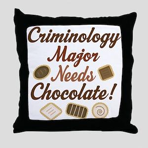 Criminology Major Gift Throw Pillow