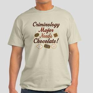 Criminology Major Gift Light T-Shirt