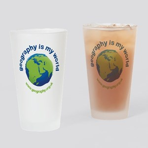 'Geography is my World' pint glass