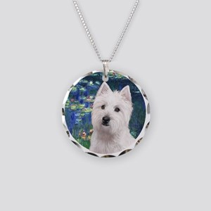 Lilies5-Westie 11b Necklace Circle Charm
