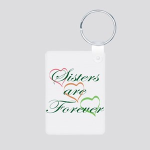 Sisters Are Forever Aluminum Photo Keychain
