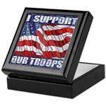 I Support Our Troops Keepsake Box