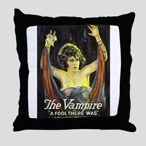 A Fool There Was Throw Pillow