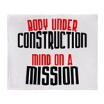 Body under construction... Throw Blanket