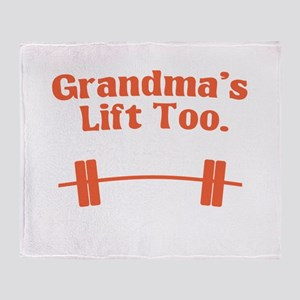 Grandma's lift too Throw Blanket