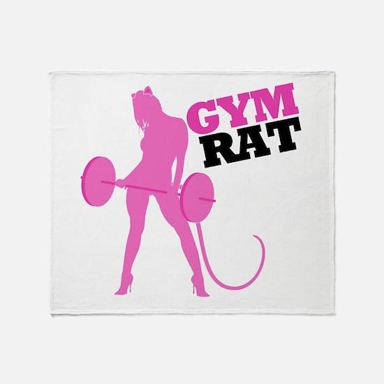 Gym Rat Throw Blanket