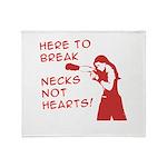 Break Necks Throw Blanket