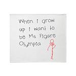 Grow up figure O Throw Blanket