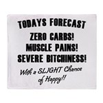 Todays Forecast Throw Blanket