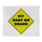 Fit baby - sign Throw Blanket
