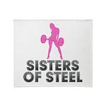 Sisters of Steel Throw Blanket