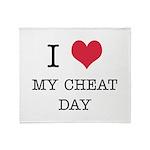 I Heart My Cheat Day Throw Blanket