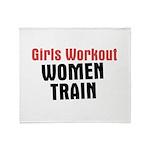 Girls workout women train Throw Blanket