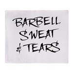 Barbell Sweat & Tears Throw Blanket