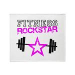 Fitness rockstar Throw Blanket