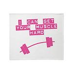 Muscle Hard Droop Throw Blanket