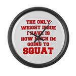 Only Issue - squats Large Wall Clock