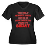 Only Issue - squats Women's Plus Size V-Neck Dark