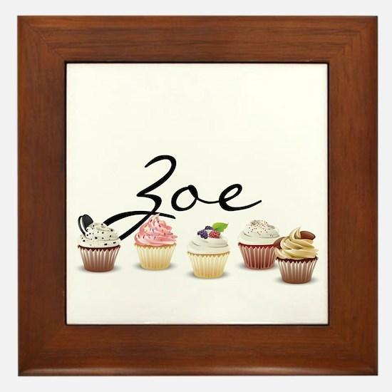 Cupcake Zoe Framed Tile