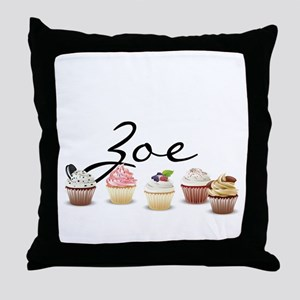 Cupcake Zoe Throw Pillow