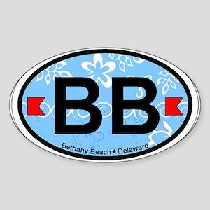 Bethany Beach DE - Oval Design. Sticker (Oval)
