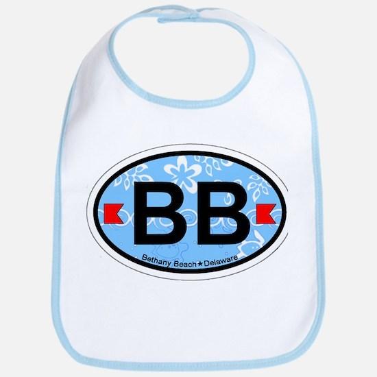 Bethany Beach DE - Oval Design. Bib