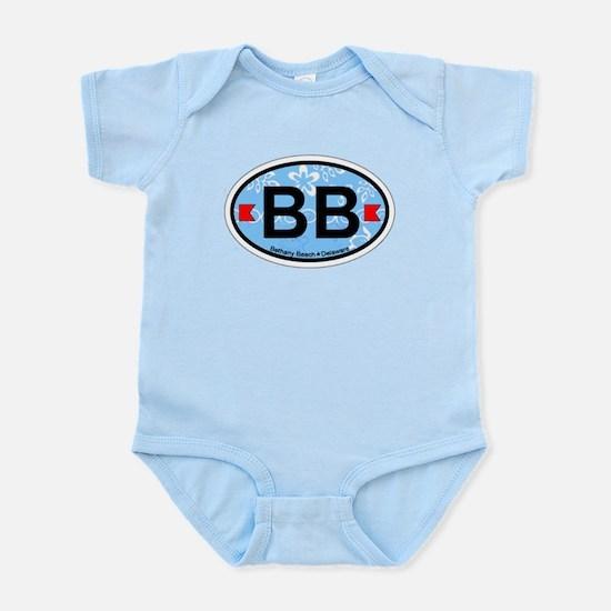 Bethany Beach DE - Oval Design. Infant Bodysuit