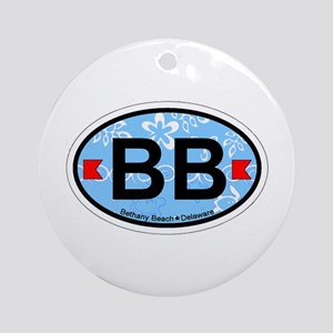 Bethany Beach DE - Oval Design. Ornament (Round)