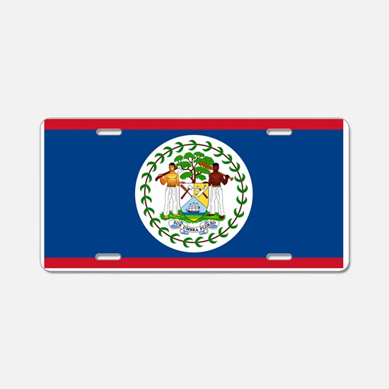Belize Country Flag Aluminum License Plate