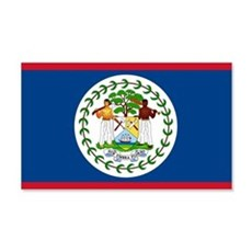 Belize Country Flag 22x14 Wall Peel