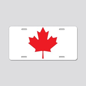 Canadian Maple Leaf Aluminum License Plate