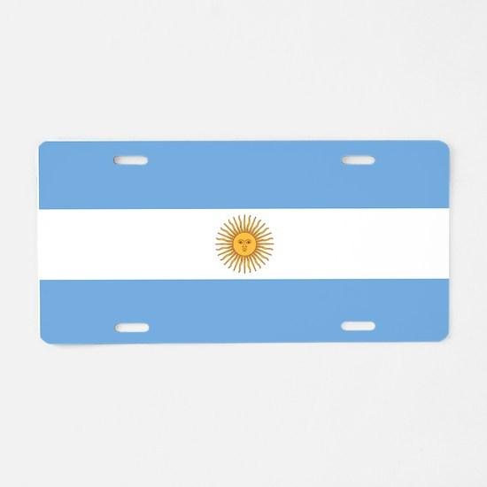 Argentina Flag Aluminum License Plate