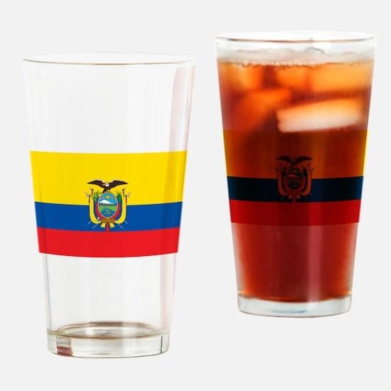 Flag of Ecuador Drinking Glass