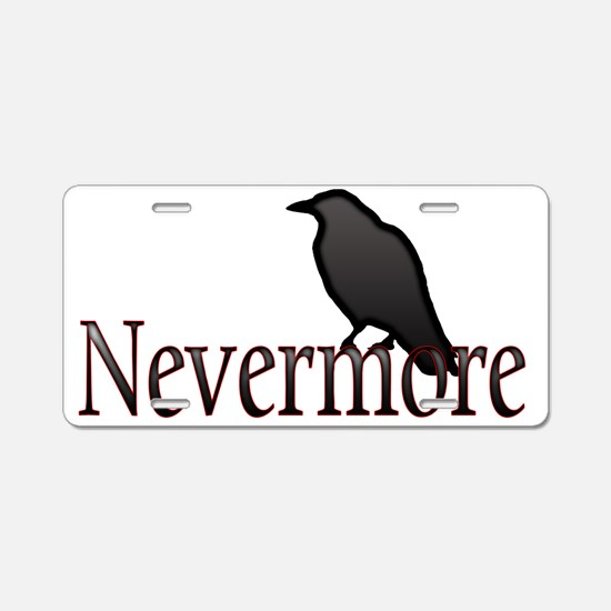 Nevermore Aluminum License Plate