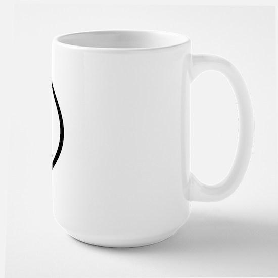 PK - Initial Oval Large Mug