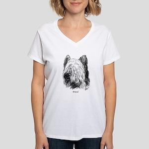 Briard Women's V-Neck T-Shirt
