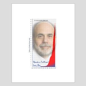 US National Debt - Ben Bernanke - Small Poster