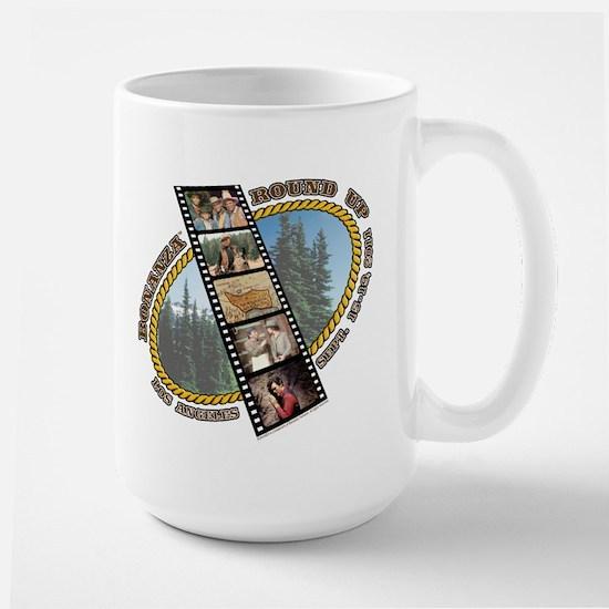 BONANZA ROUND UP Large Mug - side logo