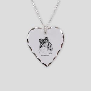 Shetland Sheepdog Necklace Heart Charm