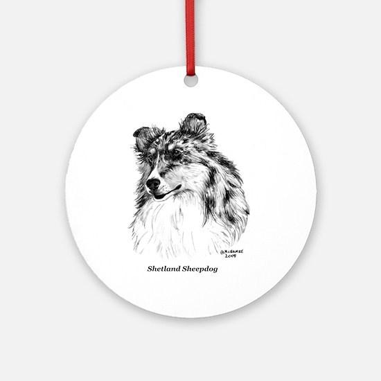 Shetland Sheepdog Ornament (Round)