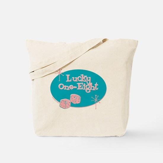 Lucky 1-8 Retro (Chai) Tote Bag
