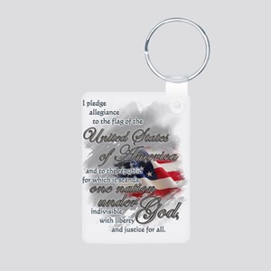 US Pledge - Aluminum Photo Keychain