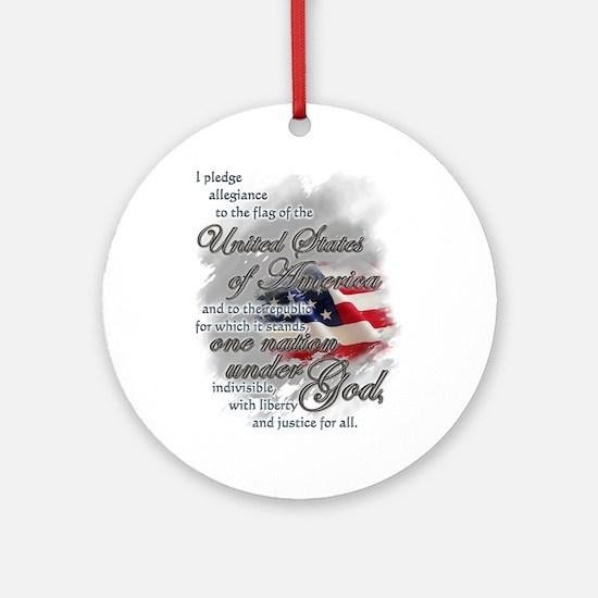 US Pledge - Ornament (Round)