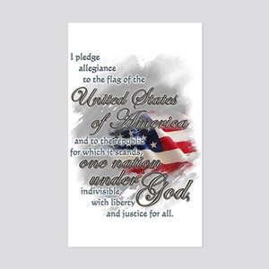 US Pledge - Sticker (Rectangle)